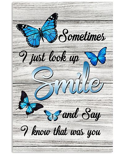 Butterfly I Know You Vertical Poster YTH9