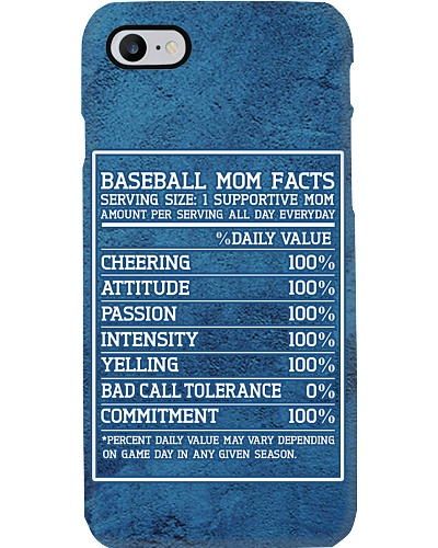 Baseball Mom Facts Phone Case CH03