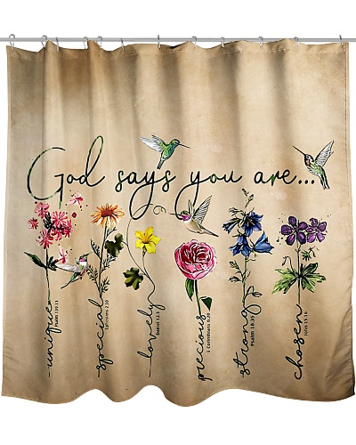 God Says You Are V2 Shower Curtain YHN2