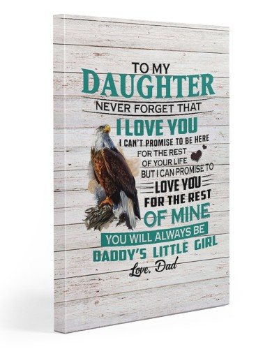 Daddy's Little Girl Vertical Canvas YHD4