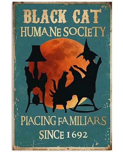 Black Cat Humane Society Vertical Poster YBE9