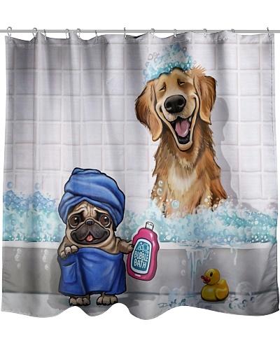 Dog Shower Curtain LA99