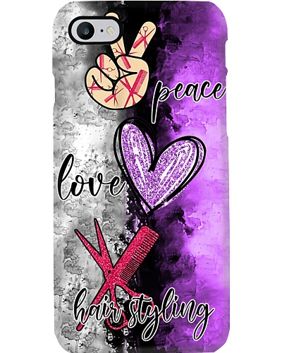 Peace Love Hairstyling Phone Case YCT8