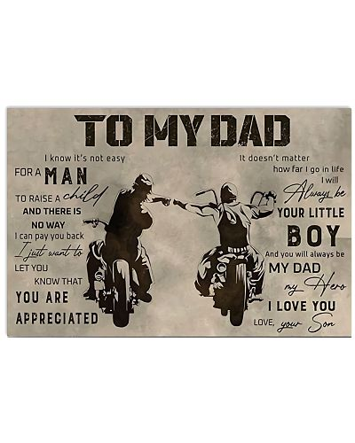 To My Dad Horizontal Poster YAD9