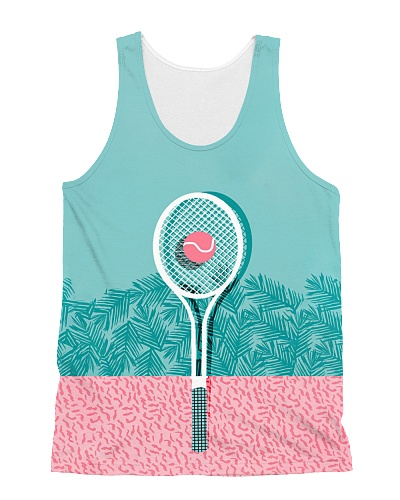 Pink Tennis AOP Tank HU29