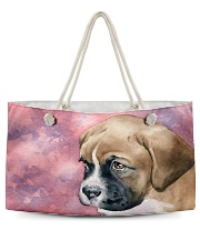 Boxer Puppy Eyes Q09T2 Weekender Tote back