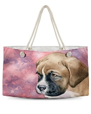 Boxer Puppy Eyes Q09T2 Weekender Tote front