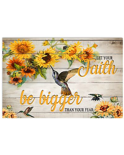 Let Your Faith Be Bigger Horizontal Poster YLT8