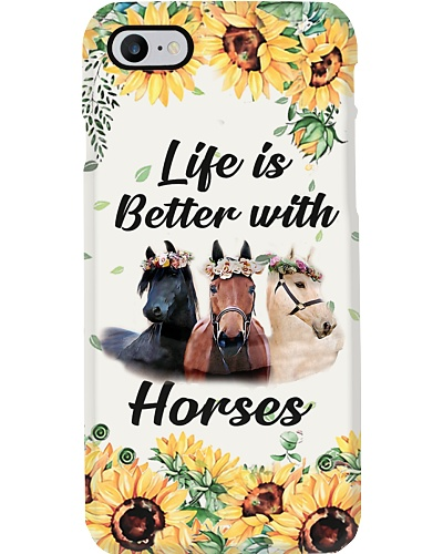 Life Is Better With Horses Phone Case YLD9