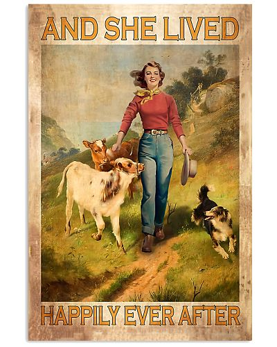 Cow Happily Ever After Vertical Poster YHL3