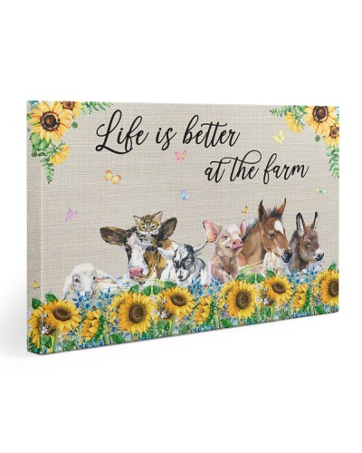 Life Is Better Horizontal Canvas YDT3