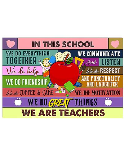 In This School Horizontal Poster YDN6