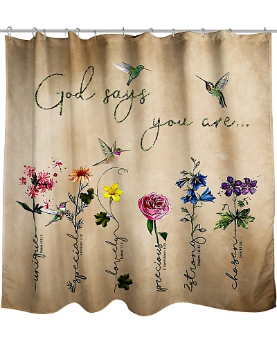 God Says You Are Shower Curtain LA99