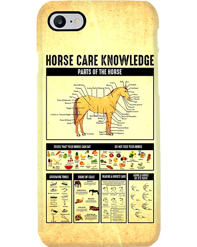 Horse Care Knowledge Phone Case YHN2
