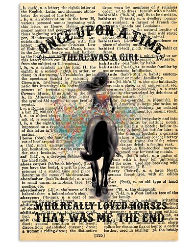 A Girl Loves Horses Vertical Poster YMT3