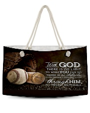 With God Baseball T69T9 Weekender Tote back