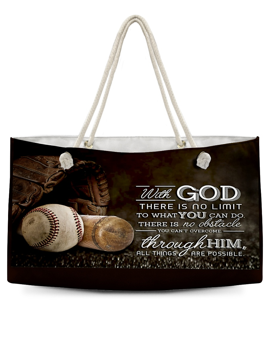 With God Baseball T69T9 Weekender Tote