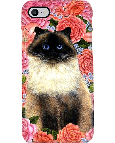 Floral Cat Phone Case YHD8