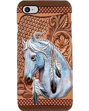 White Horse Leather Phone Case YKL2 Phone Case i-phone-8-case