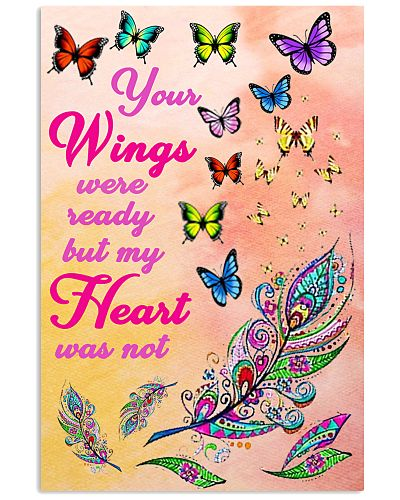Heart Beats To Butterfly Vertical Poster YCA1