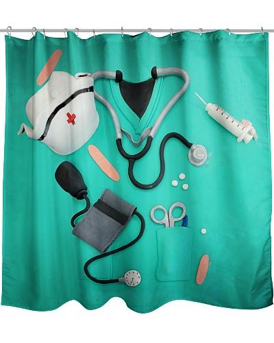 Nurse Scrub Shower Curtain QE25