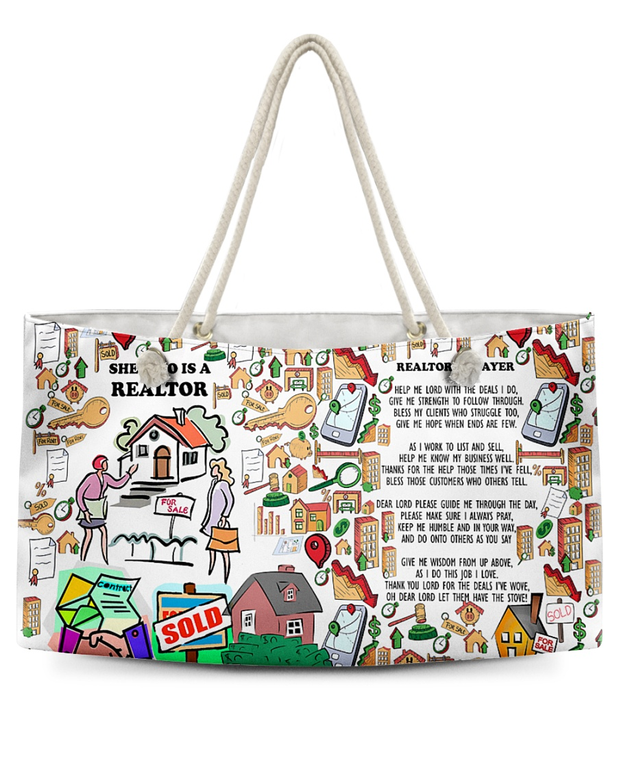 She Who Is A Realtor H22N8 Weekender Tote