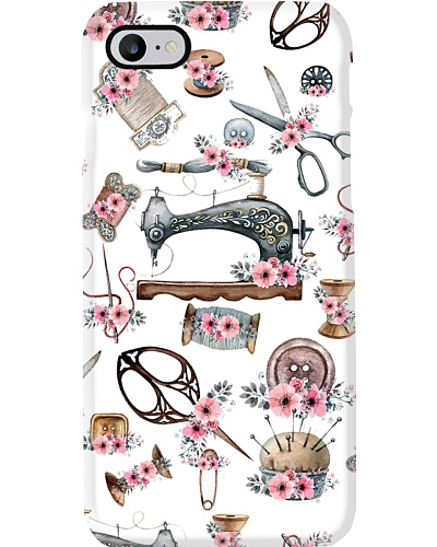Vintage Sewing Kit Flowers Phone Case QE25