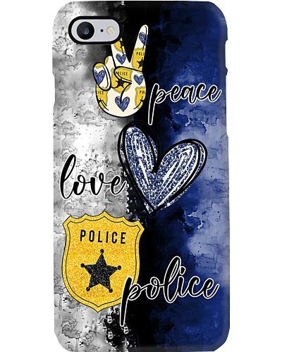 Peace Love Police Phone Case YCT8