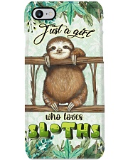 Just A Girl Who Loves Sloths HG23 Phone Case i-phone-8-case