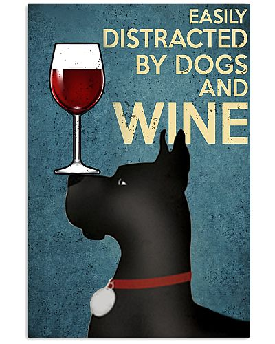 Dobermann Distracted By Wine Vertical Poster YLT8