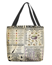 Witchcraft Knowledge Weekender And Tote Bag H25P3 All-over Tote front