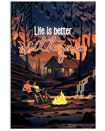 Life Is Better Vertical Poster YTH0