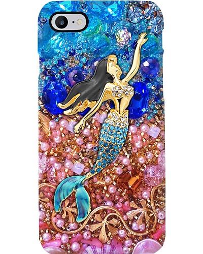 Mermaid Crystal Blue Pink Phone Case YHG6