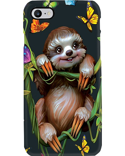 Happy Sloth Butterfly Phone Case CH03