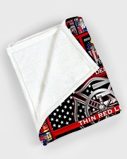 """Proud Thin Red Line V99H9 Large Fleece Blanket - 60"""" x 80"""" aos-coral-fleece-blanket-60x80-lifestyle-front-08"""