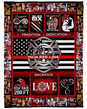 """Proud Thin Red Line V99H9 Large Fleece Blanket - 60"""" x 80"""" front"""