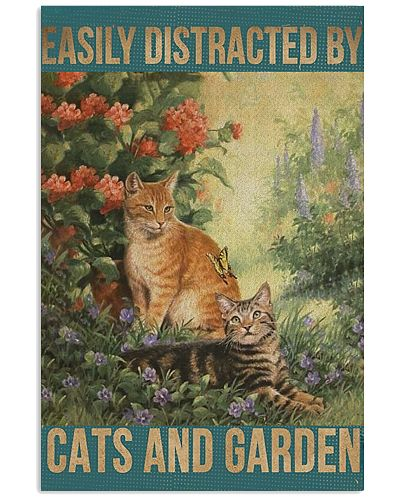 Cat And Garden Vertical Poster YTB5