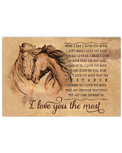 Horse I Love You The Most Horizontal Poster CH03