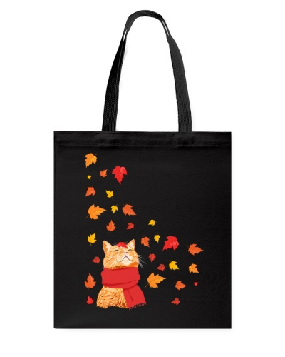 Cat and autumn leaves HG97
