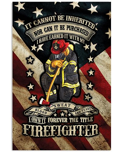 Proud to be a Firefighter Vertical Poster YTV5