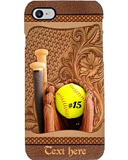 Softball Player Personalized Phone Case Q22A2 Phone Case i-phone-8-case