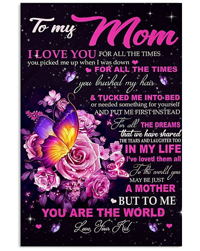 To My Mom Vertical Poster YLH1