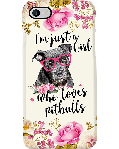 Just A Girl Who Loves Pitbulls H12T4