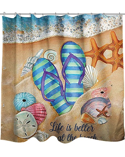 Life Is Better At Beach V2  Shower Curtain YHG6