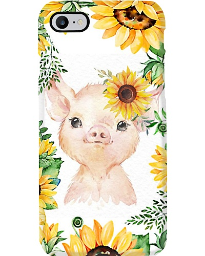 Sunflower Pig Phone Case D19T9