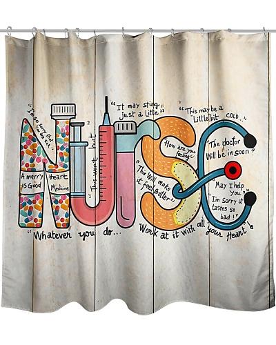 Nurse Text Shower Curtain YPM0
