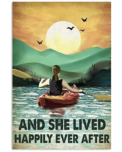 She Lived Happily Vertical Poster YTH7