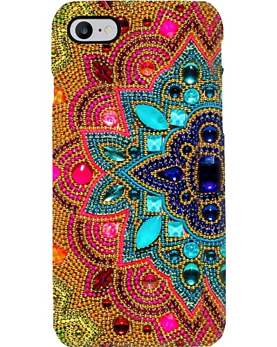 Half Mandala Flower Phone Case YHG6