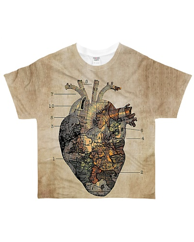 World Map Heart YHN3