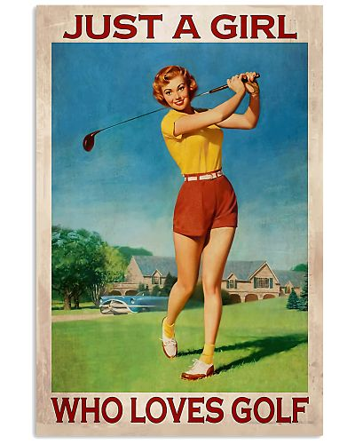 Just A Girl Who Loves Golf Vertical Poster YHL3